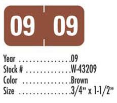 Tab brown 3 4 x 1 1 2